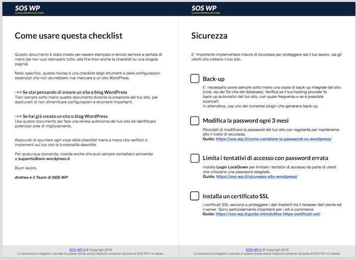 checklist sos wp