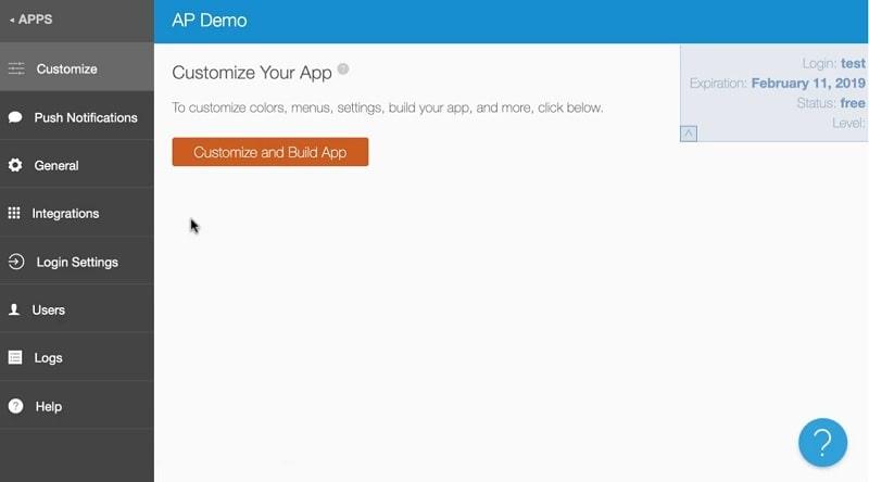 Builder AppPresser per trasformare il tuo sito in un'app
