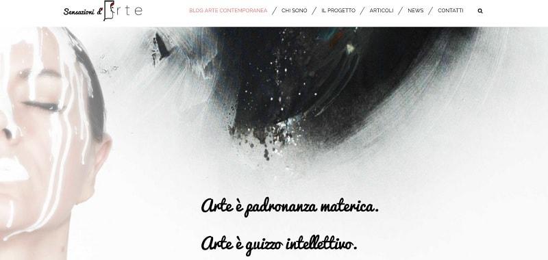 Esempi di blog WordPress: Sensazioni d'arte