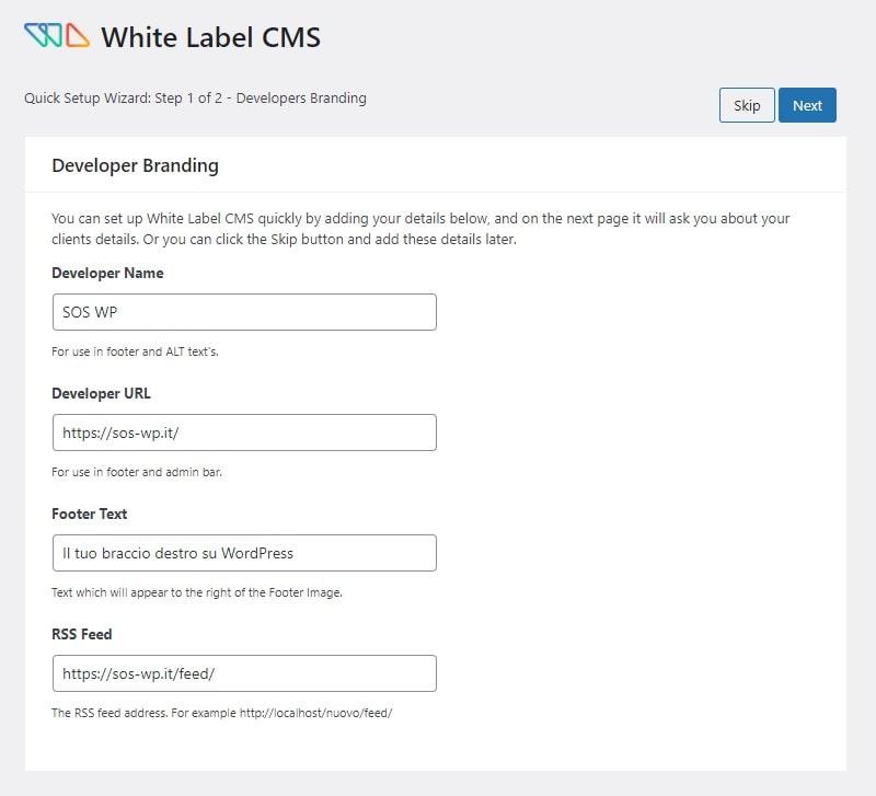 Personalizzare il brand nella bacheca di WordPress