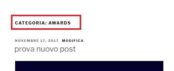 """rimuovere """"category"""" dal titolo delle pagine categoria"""