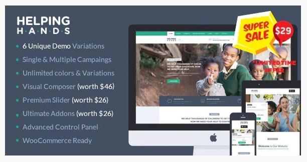 Tema Charity per creare il sito di una onlus