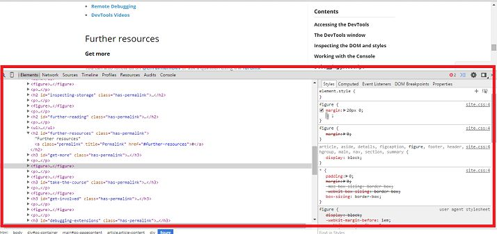 Screenshot che mostra come Chrome DevTools per ispezionare CSS su WordPress