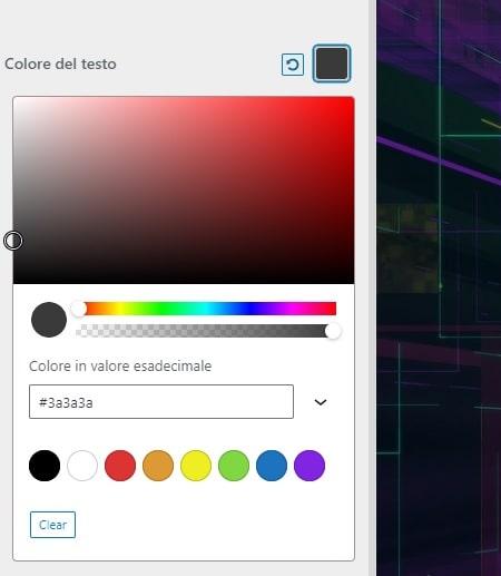 Tabella colori HTML