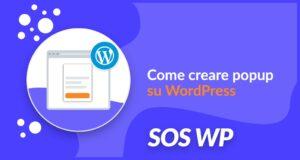 Come creare popup su WordPress