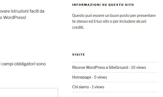 WP-PostViews - esempio di contatore per WordPress