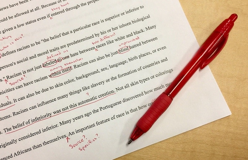 correzioni penna rossa