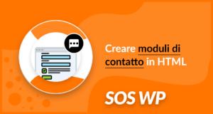 Creare moduli di contatto in HTML