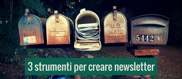 3 strumenti per mandare newsletter personalizzate