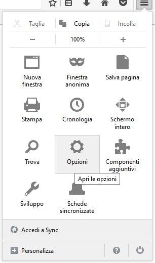 Svuotare la cache su Firefox