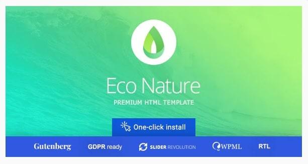 Eco Nature - tema per creare sito associazione