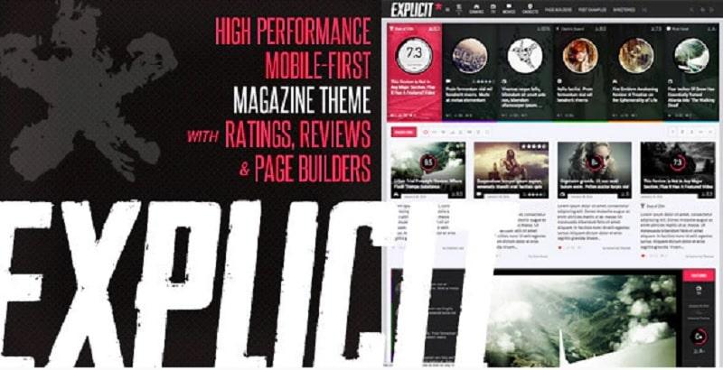 Tema Explicit per sito di recensioni