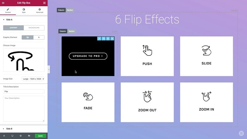 flipbox elementor