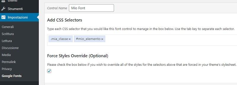 Font Control