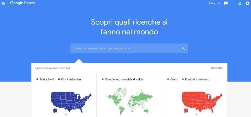 Migliori strumenti Google - Trends