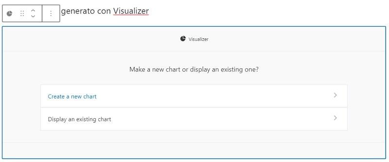 blocco Gutenberg Visualizer per i grafici