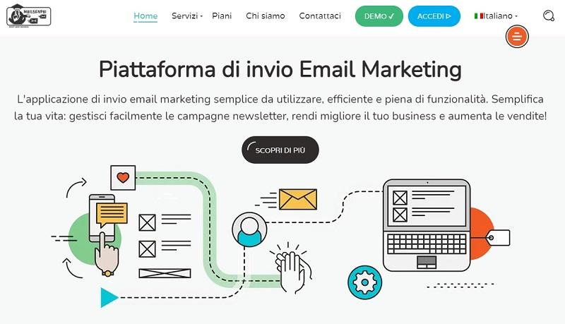 Mailsenpai piattaforma di email marketing italiana