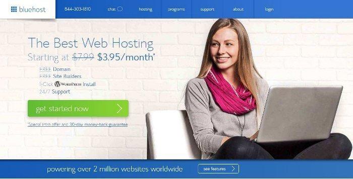 Dominio e hosting Bluehost