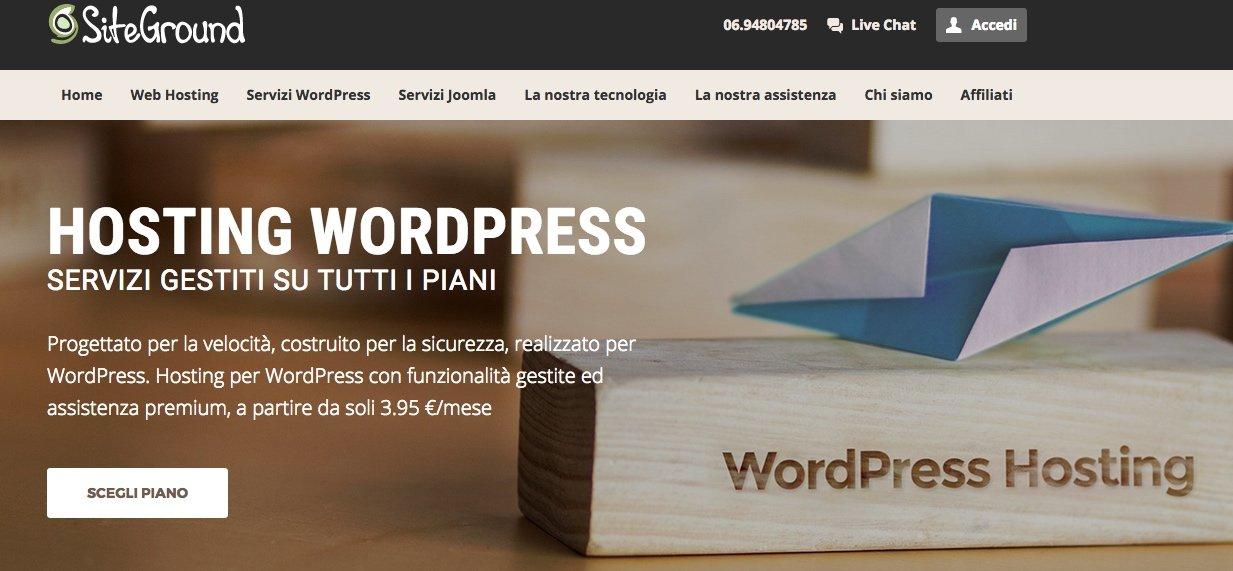 hosting WordPress siteground