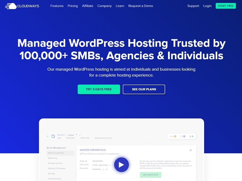 Hosting WordPress Cloudways