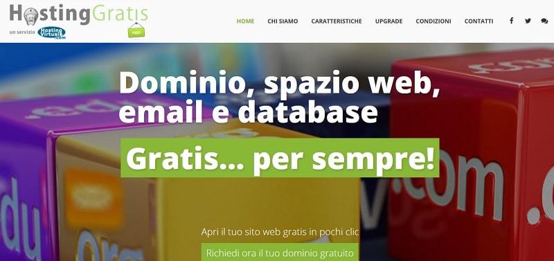 Spazio web gratis Hostinggratis
