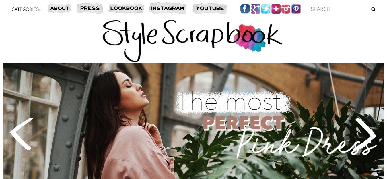 Le icone social nel blog Style Scrapbook