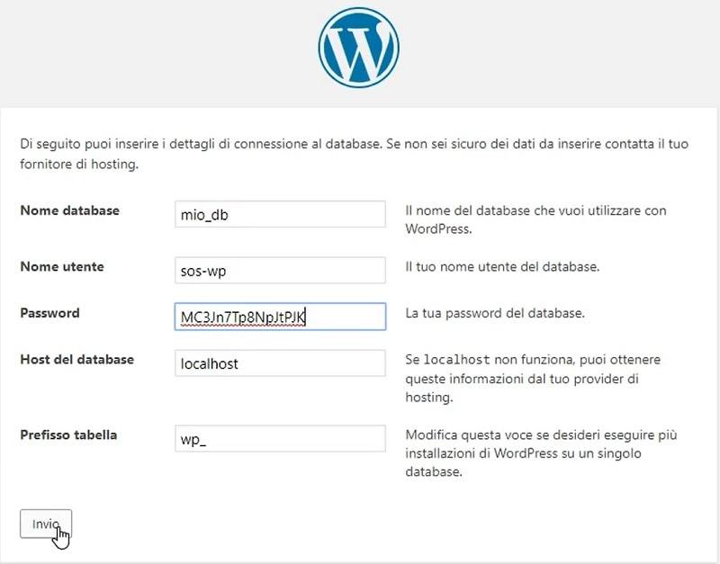 installazione WordPress in locale