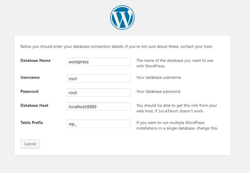 Installazione di WordPress con MAMP