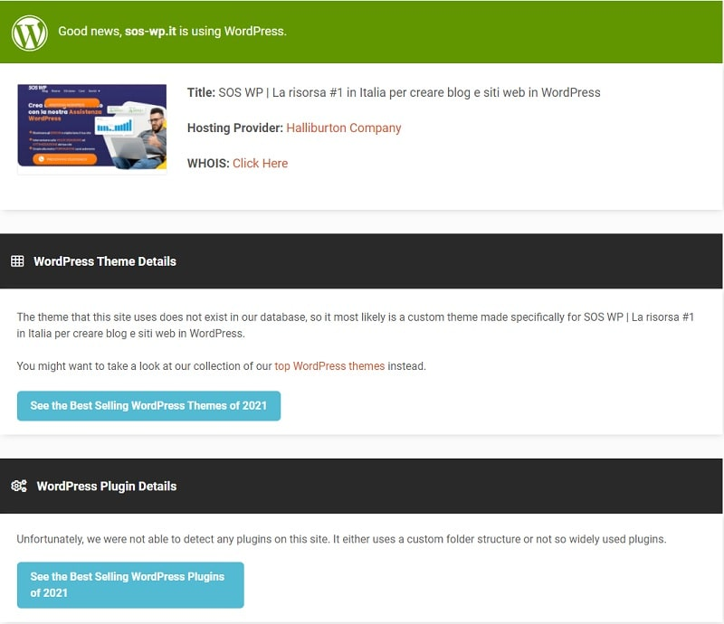 Scoprire il tema WordPress con IsItWP