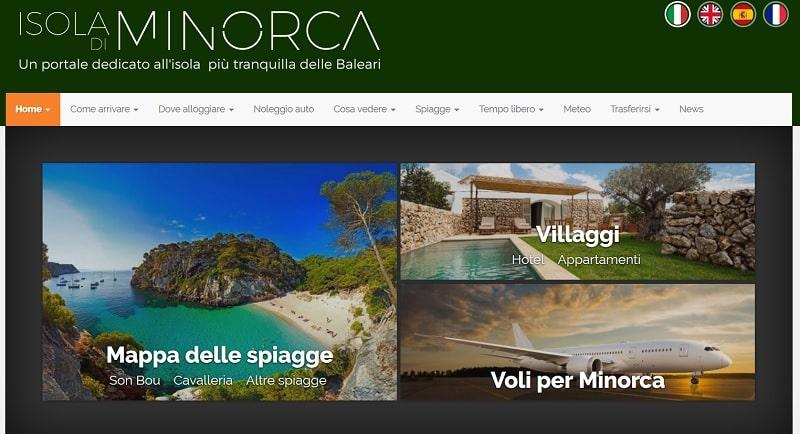 guida turistica digitale Minorca