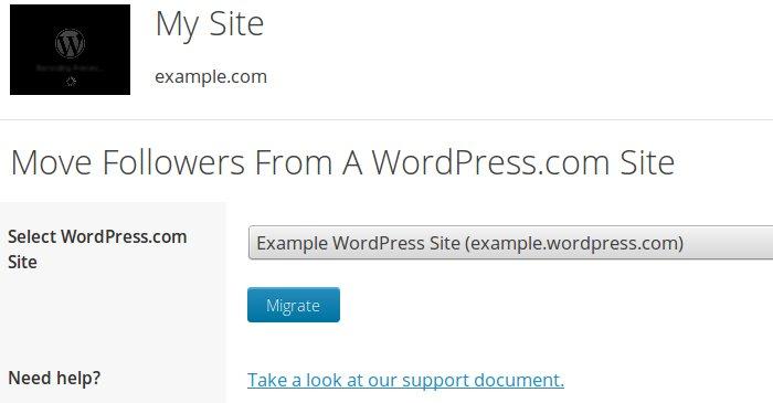 Importare utenti da WorPress.com