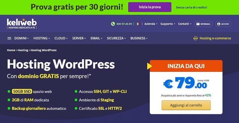 Keliweb miglior hosting italiano