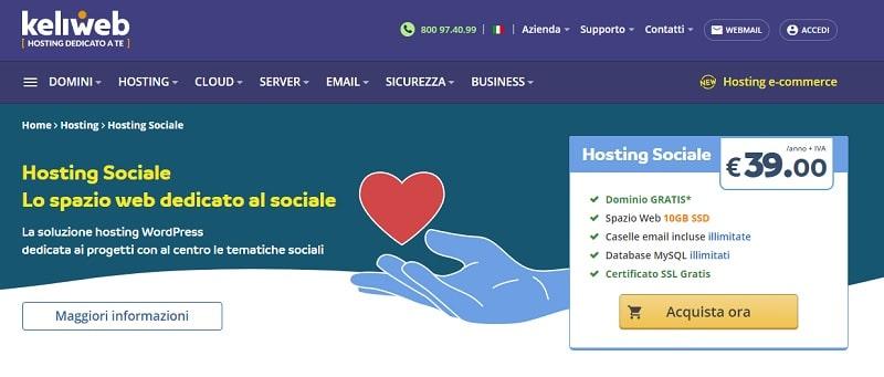 Hosting Sociale Keliweb