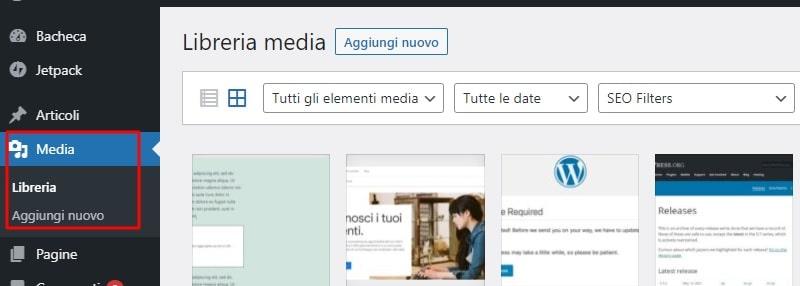 Libreria Media WordPress