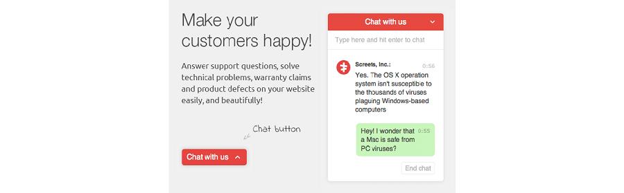 Visualizzazione WordPress plugin Live Chat