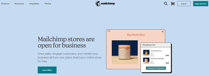 Mailchimp - migliori siti per creare newsletter
