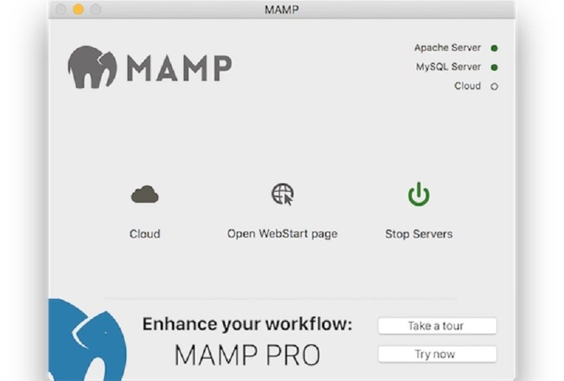 installare WordPress in locale su Mac - start servers