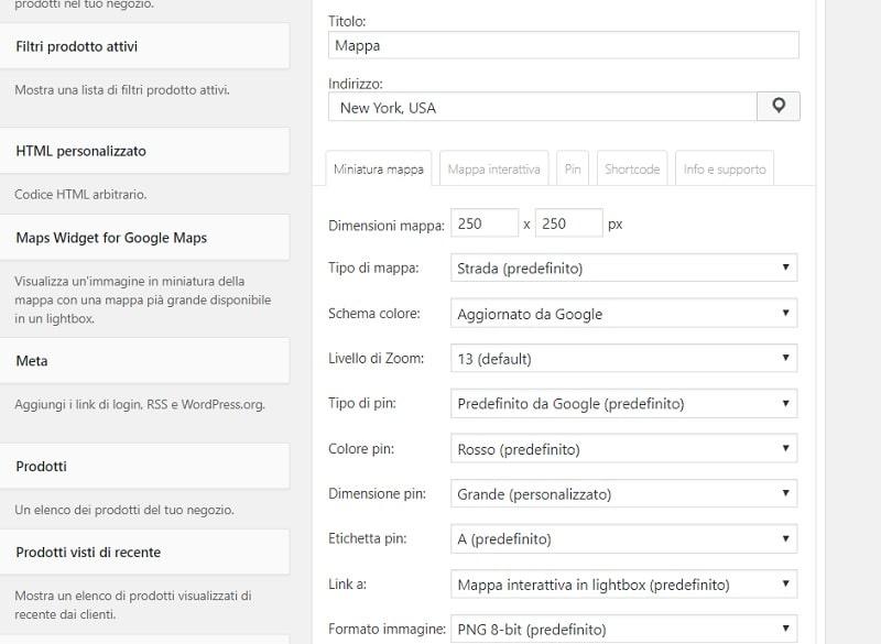 Maps Widget plugin