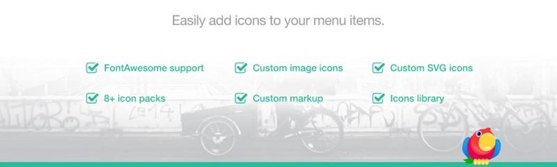 Menu Icons plugin