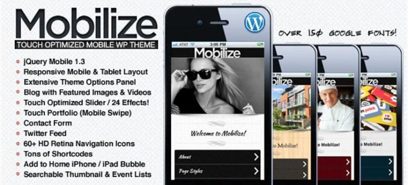 Mobilize Tema mobile per WordPress