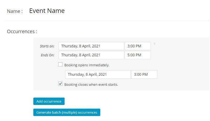 Creazione nuovo evento con Event Booking Pro per WordPress