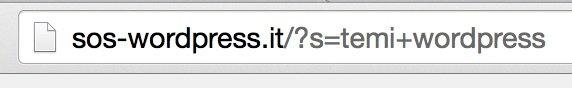 parametro di ricerca wordpress