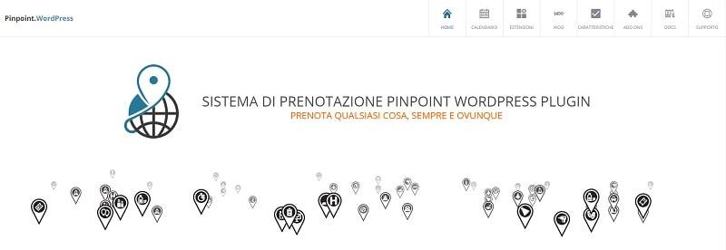 Pinpoint plugin per appuntamenti e prenotazioni