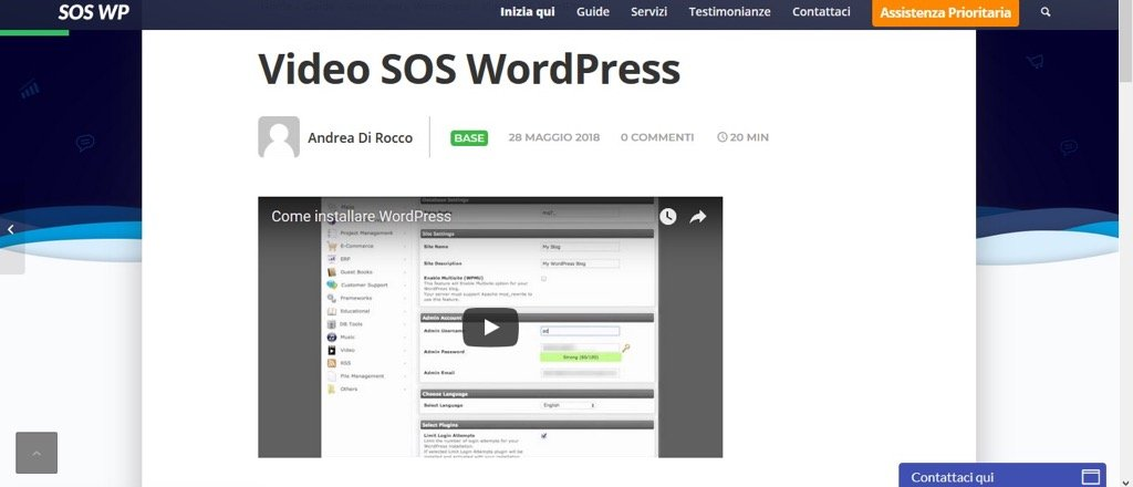 Mettere video YouTube su WordPress