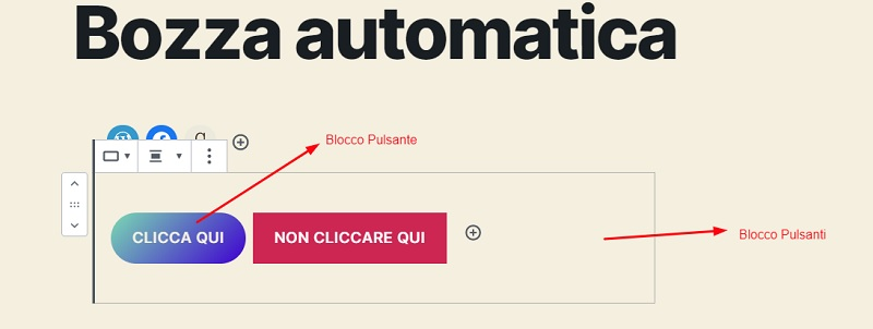 Pulsante WordPress 5.4