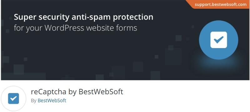 reCaptcha by BestWebSoft plugin per inserire codice captcha