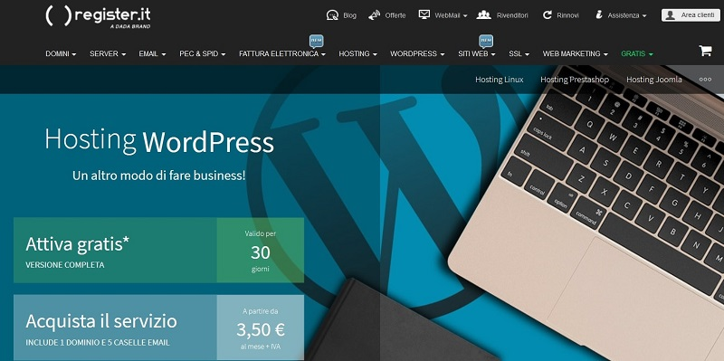 opinioni Register hosting