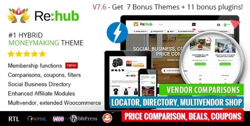 REHub - i migliori Temi eCommerce per WordPress