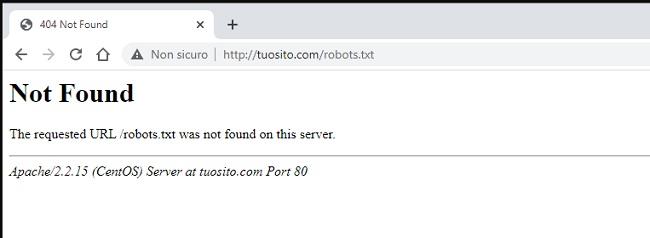 File robots.txt non trovato