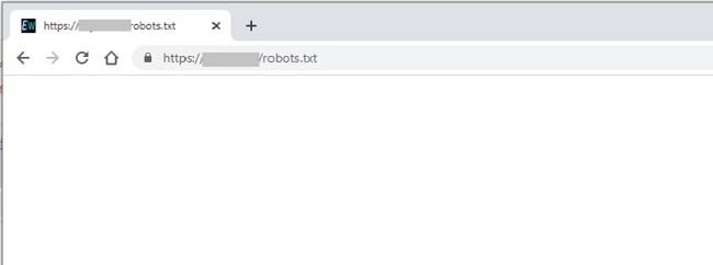 Robots.txt vuoto